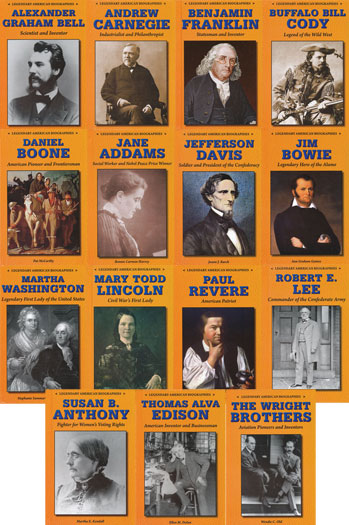 Legendary American Biographies Set of 15