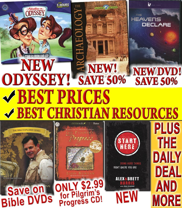 New Odyssey CD #51 + Pilgrim's Progress CD for $2.99 + New Wonders of Creation Book, Archaeology